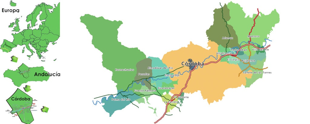 Plano Valle del Guadalquivir + europa